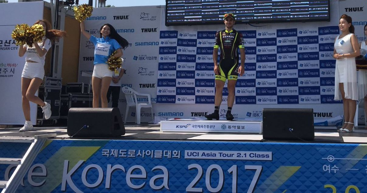 Jon Aberasturi vincitore della prima tappa del Tour of Korea 2017