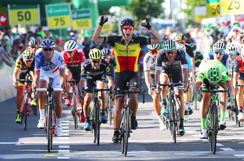 Philippe Gilbert vince la seconda tappa del Tour de Suisse 2017
