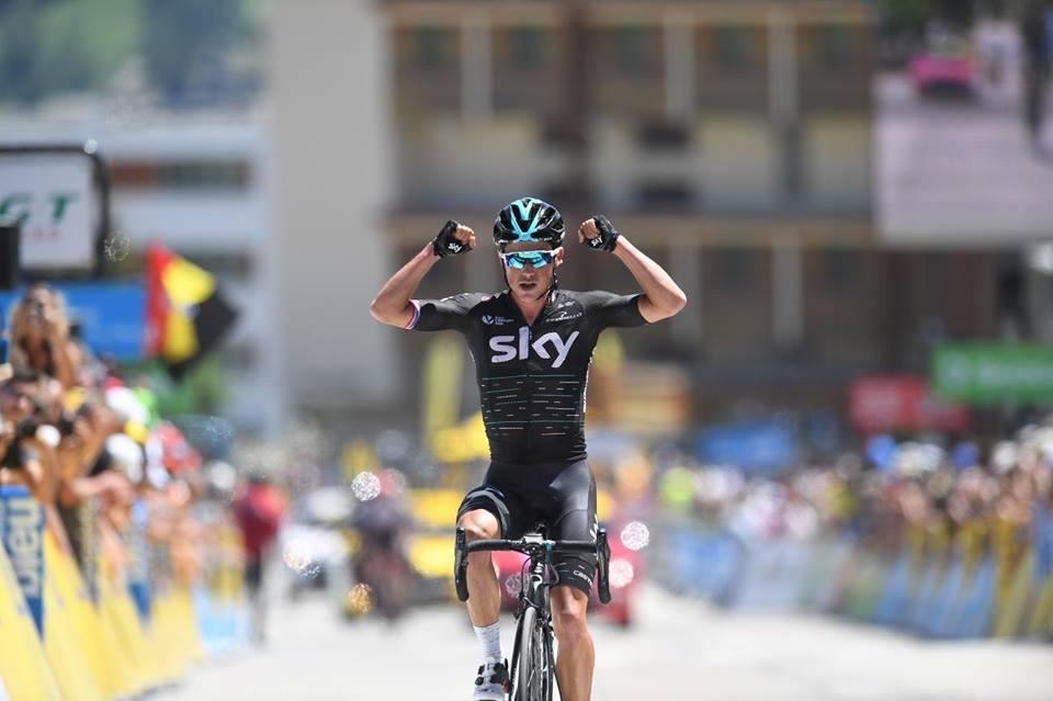 Peter Kennaugh vince la settima tappa del Criterium du Dauphine 2017 con arrivo all'Alpe d'Huez