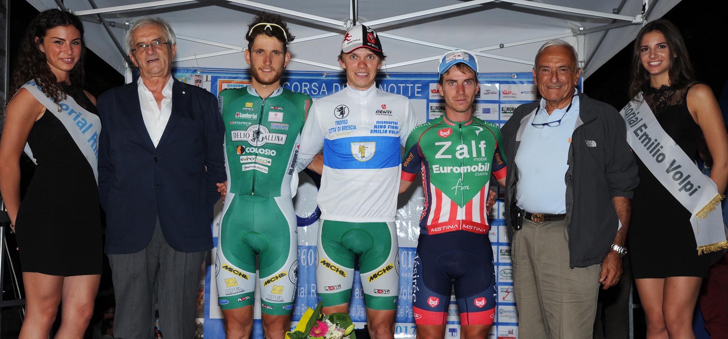 Il podio del 54° Trofeo Città di Brescia