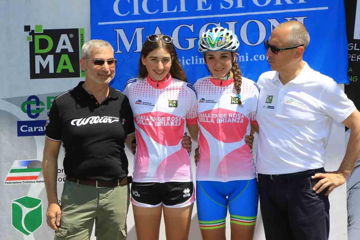 Giulia Raimondi ed Eleonora Gasparrini prime leader della Challenge Rosa della Brinza