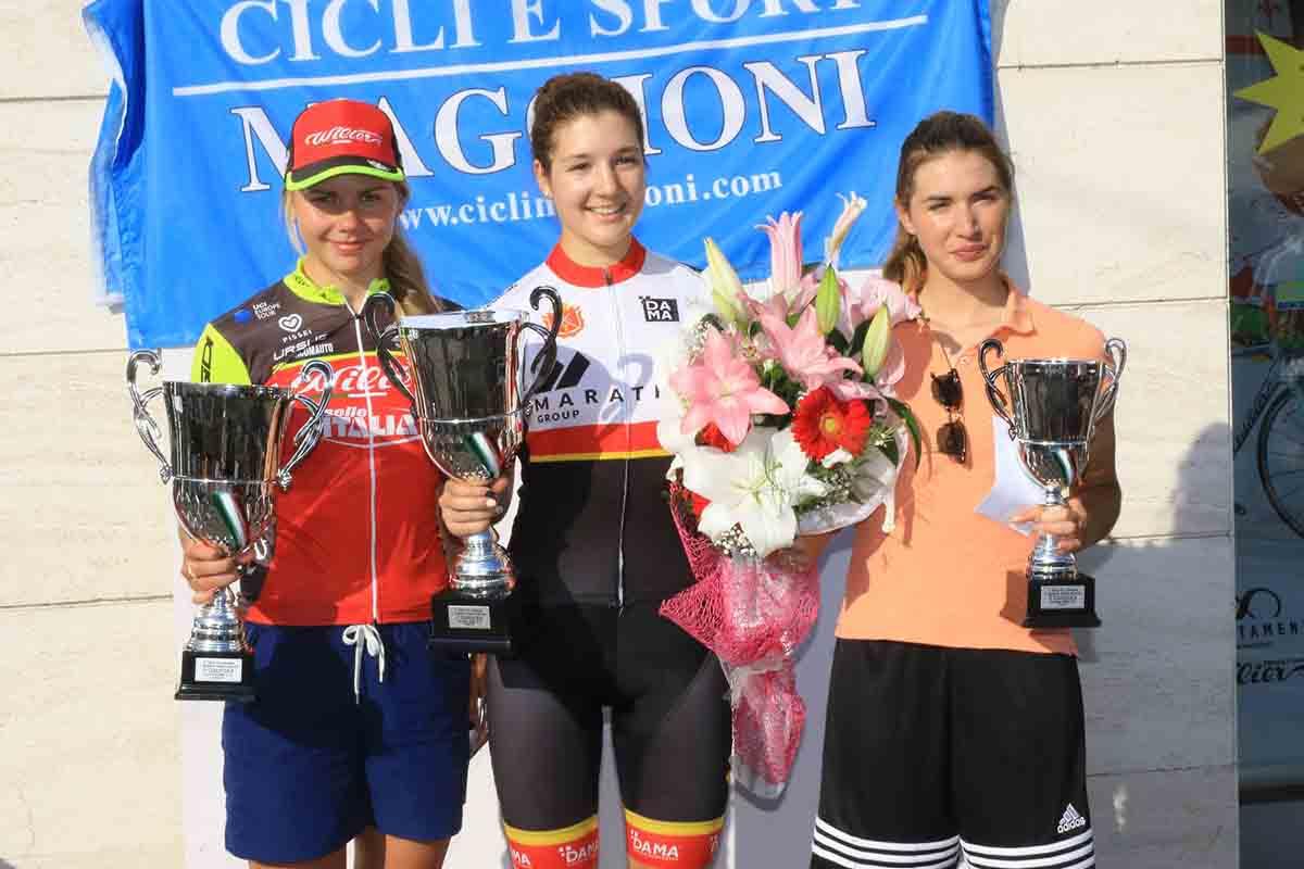 Il podio Donne Elite di Cesano Maderno