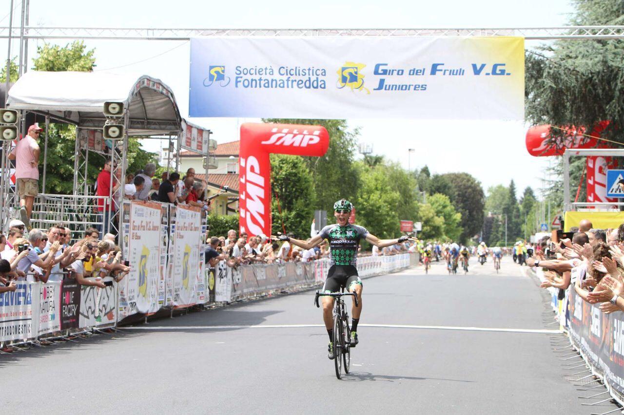 Fabio Mazzucco vince l'ultima tappa del Giro del Friuli Juniores 2017