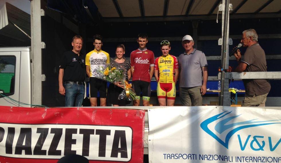 Il podio del Campionato Veneto Esordienti 2° anno 2017