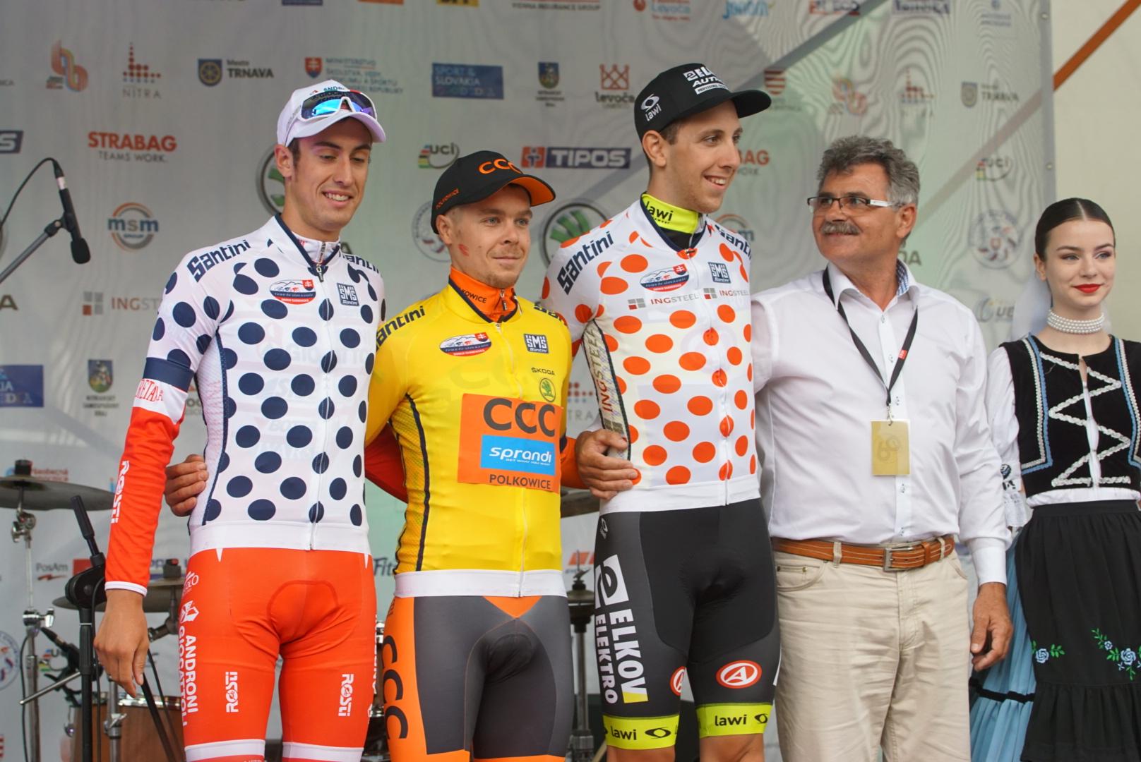 Il podio del prologo del Tour de Slovaquie 2017