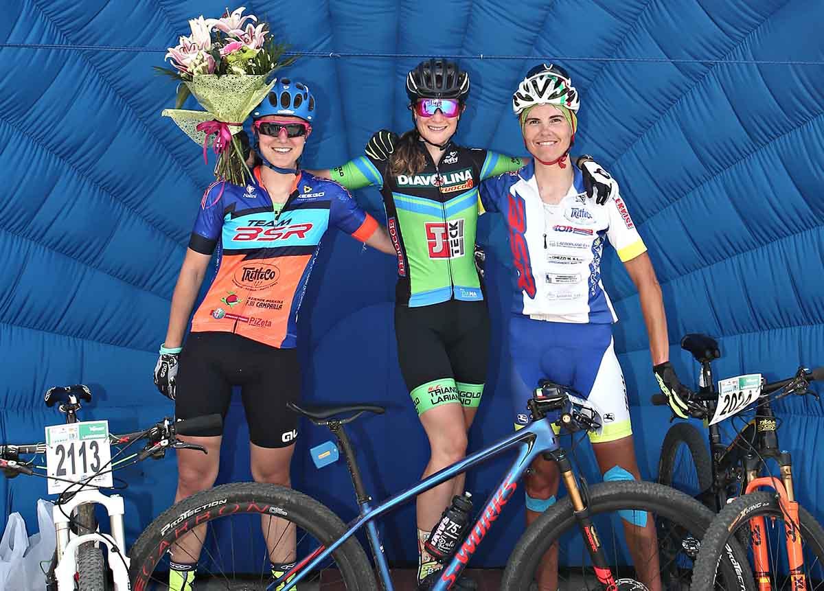 Il podio femminile della Nosellari Bike 2017