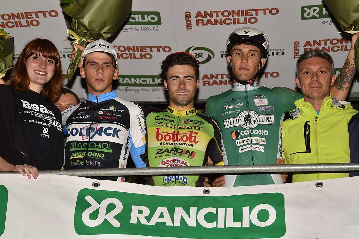 Il podio del Trofeo Rancilio 2017