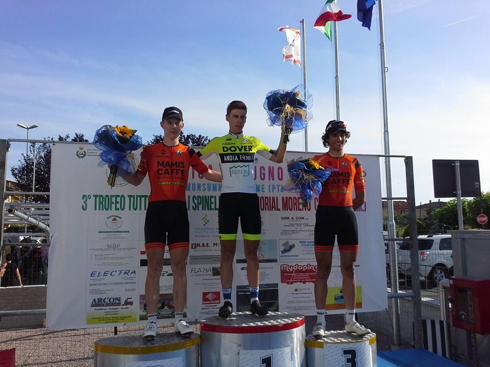 Il podio di Monsummano Terme