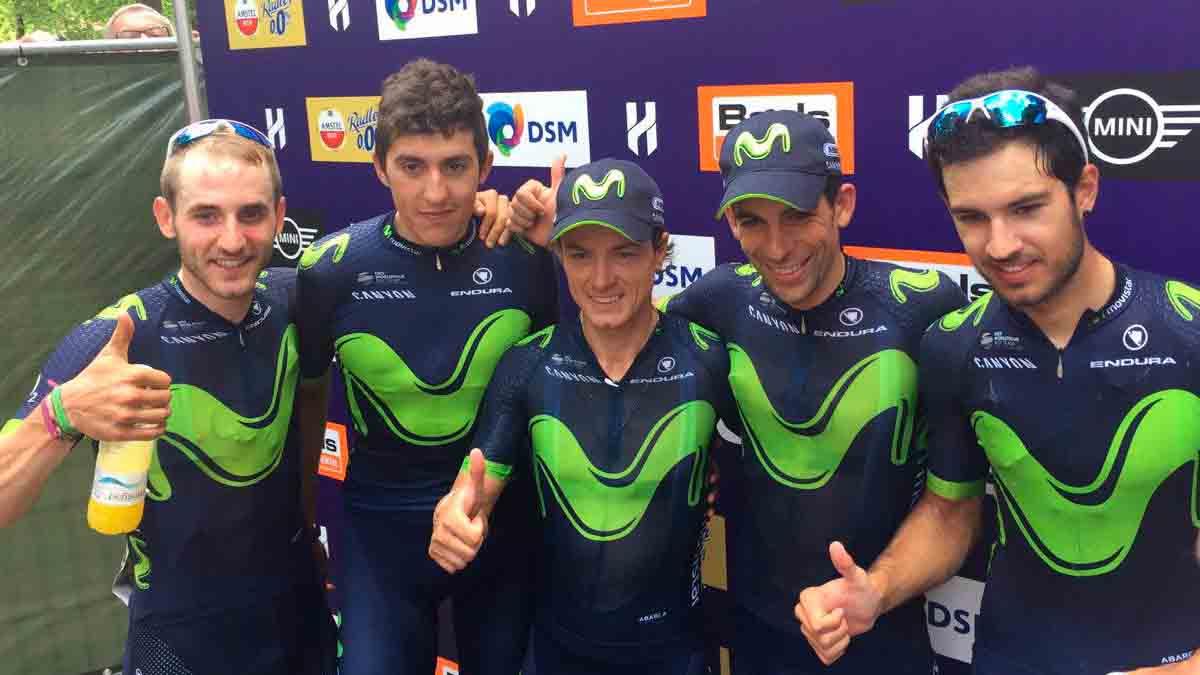 Il Movistar Team vince il primo atto della Hammer Sportzone Limburg
