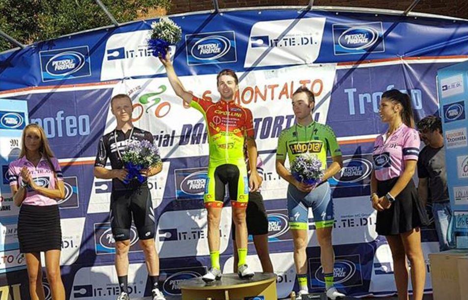 Il podio del 4° Memorial Daniele Tortoli vinto da Francesco Romano