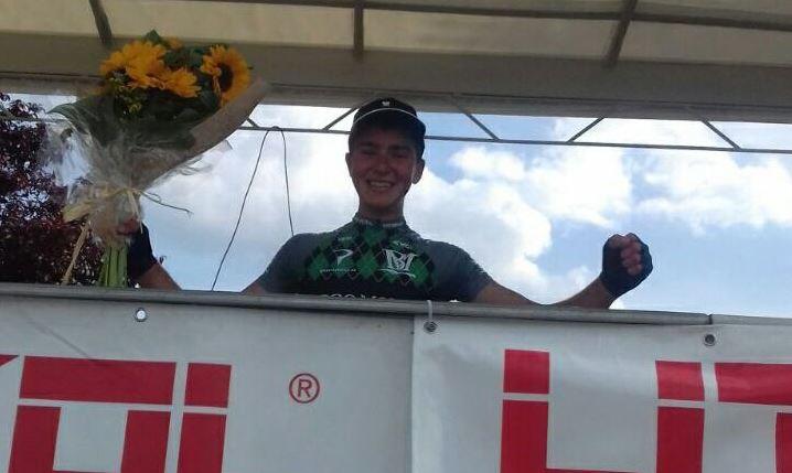 Matteo Zandomeneghi vincitore della gara Juniores di Rubiera