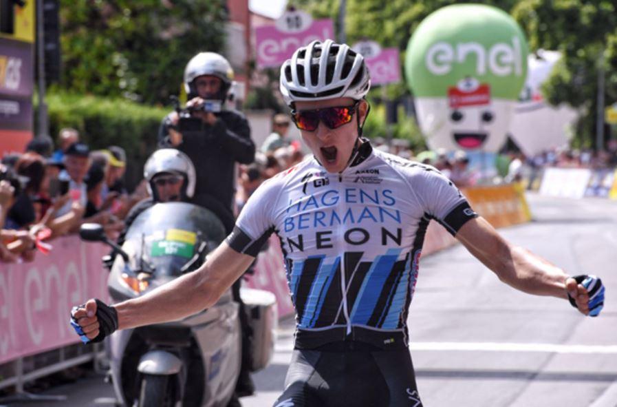 Neilson Powless vince la prima tappa del Giro d'Italia Under 23 Enel 2017