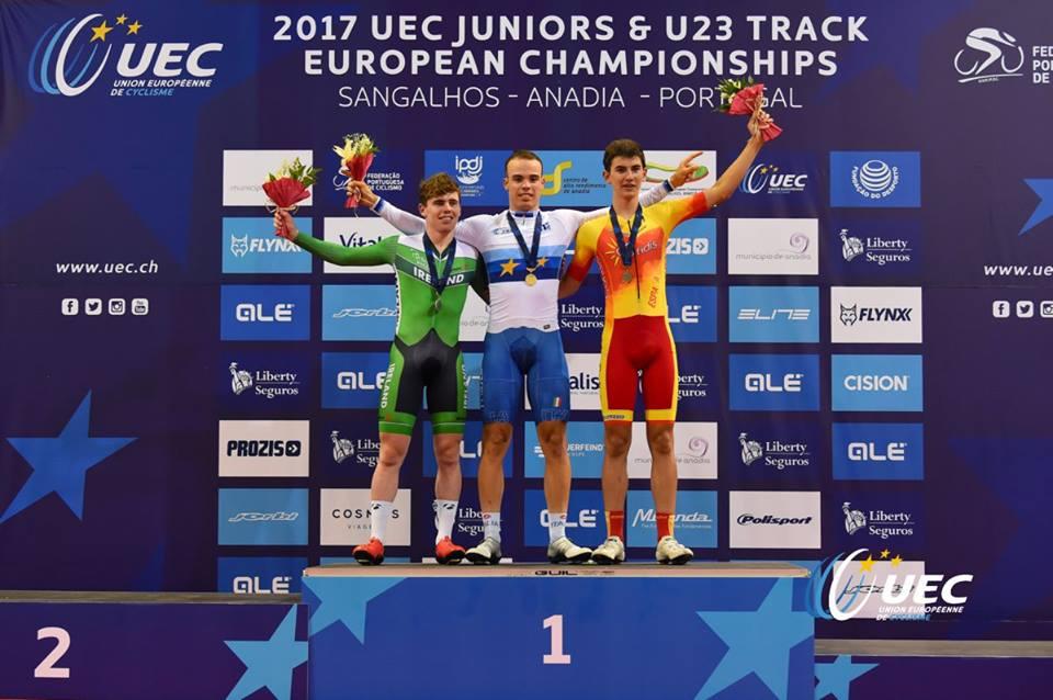 Michele Gazzoli campione europeo dell'Eliminazione Juniores