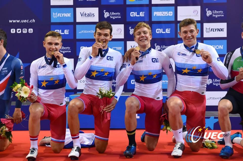 La Russia campione d'Europa Inseguimento a squadre Juniores