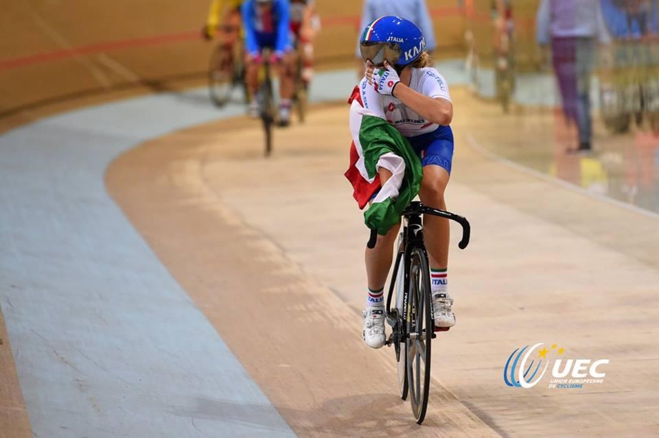 Martina Fidanza festeggia la vittoria all'Europeo di Anadia