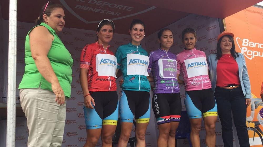 Le maglie dopo la terza tappa della Vuelta Femenina a Costa Rica