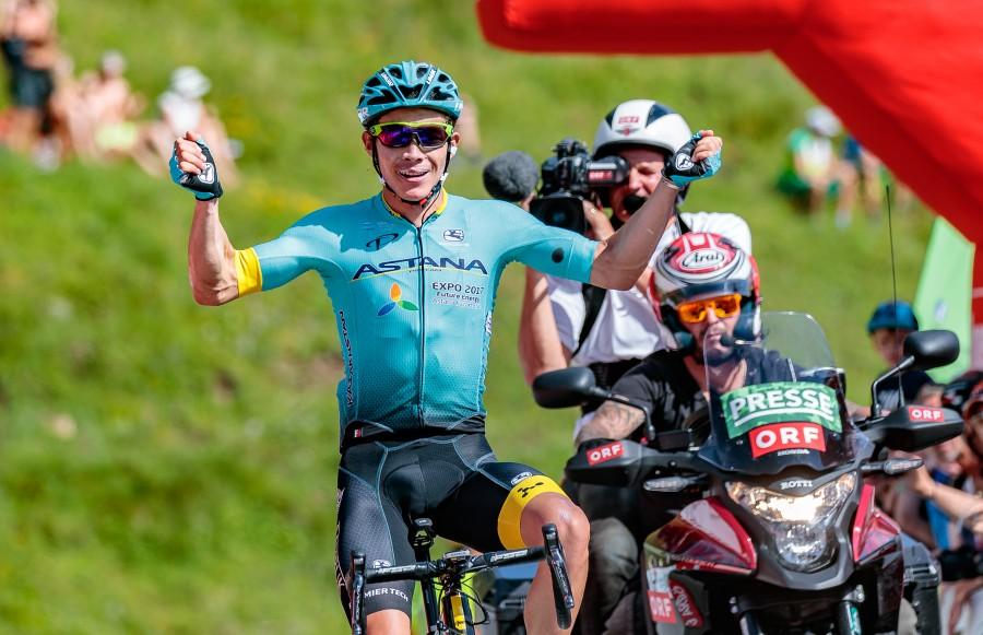 Miguel Lopezdell'Astana vince la quarta tappa del Giro d'Austria 2017