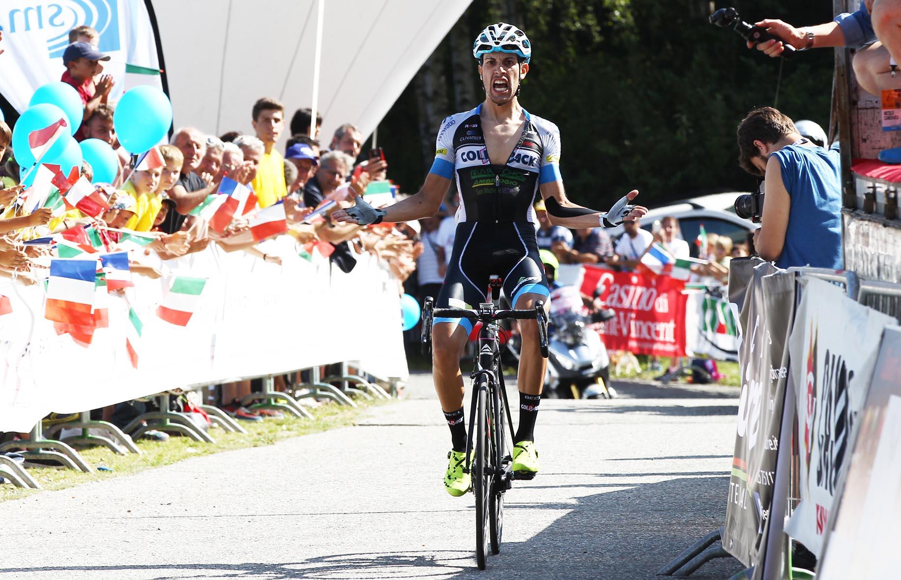 Giovanni Carboni vince la prima tappa del Giro della Valle d'Aosta 2017