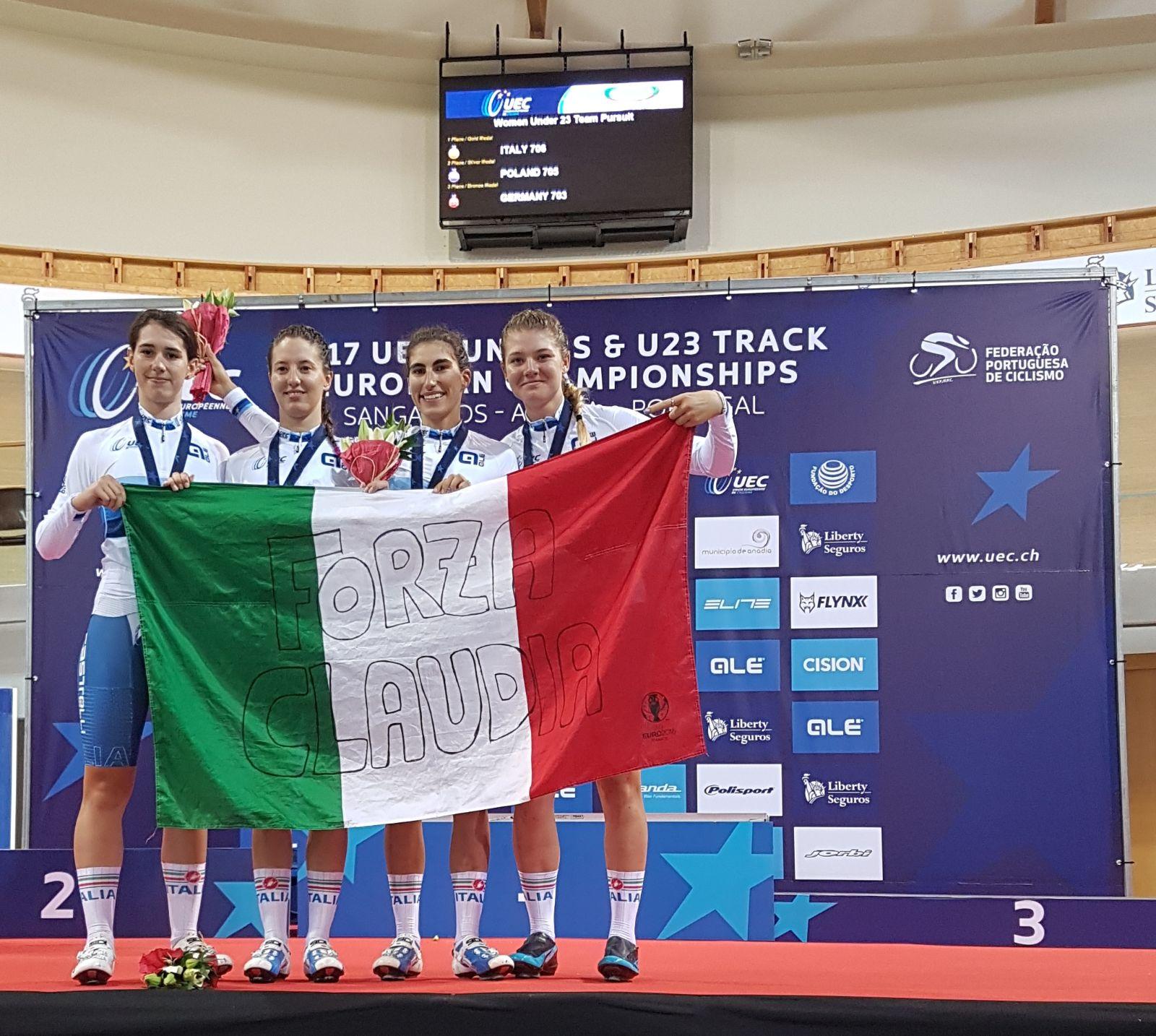 Le neo campionesse d'Europa dedicano la vittoria alla compagna Claudia Cretti