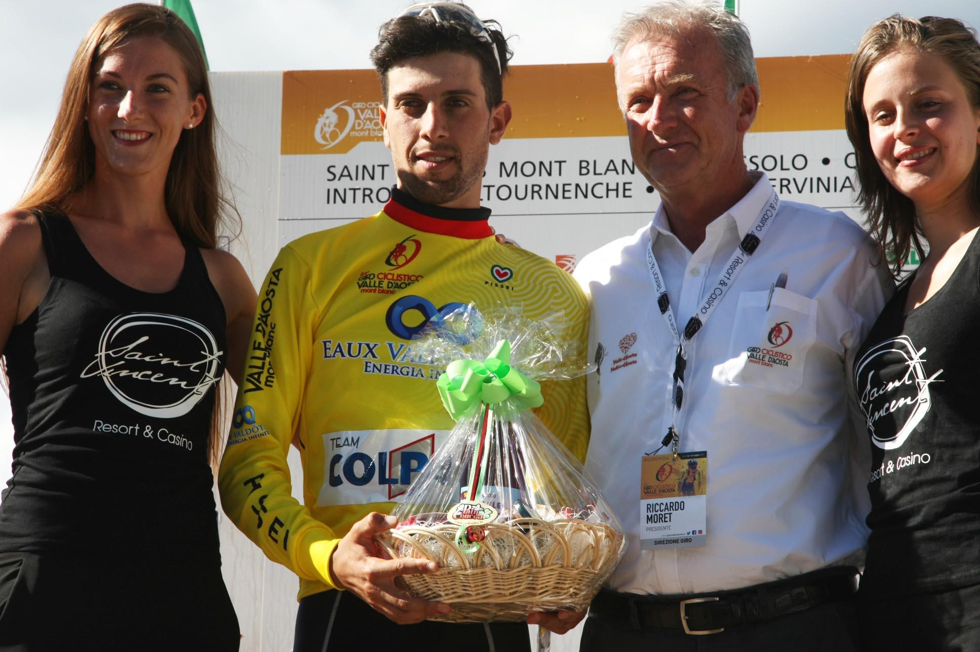 Giovanni Carboni resta leader del Giro Valle d'Aosta 2017
