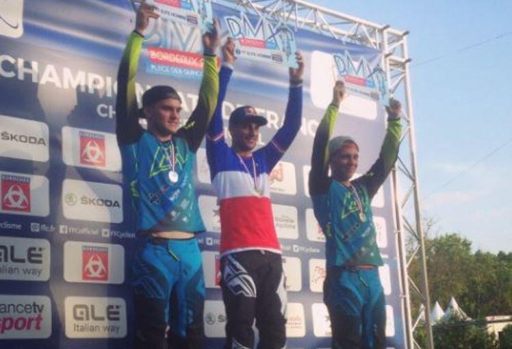 Il podio della prima tappa del Giro del Veneto 2017