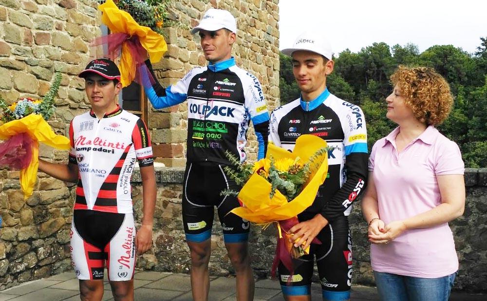 Il podio del Gp Città di Vinci 2017 vinto da Alessandro Fedeli
