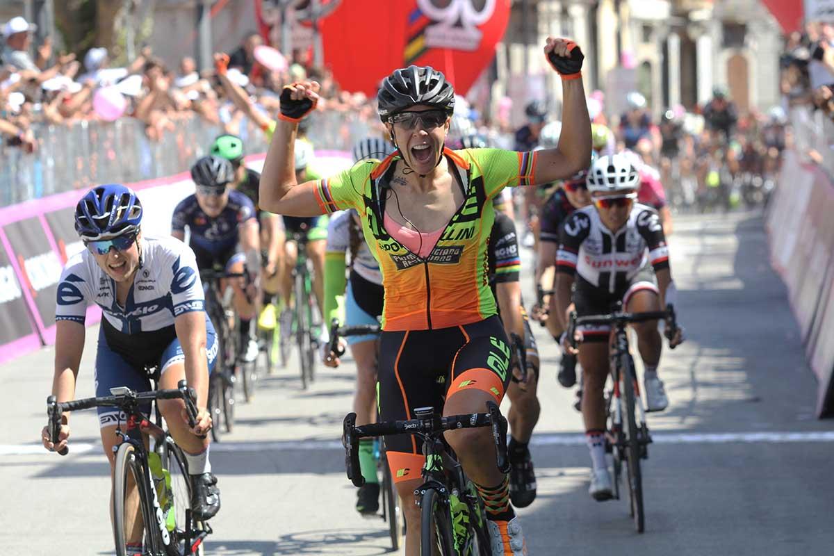 Marta Bastianelli vince a Polla la nona tappa del Giro Rosa 2017