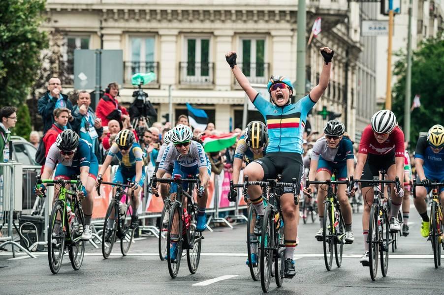 La belga Dina Scavone vince la prova in linea Donne Allieve di EYOF 2017