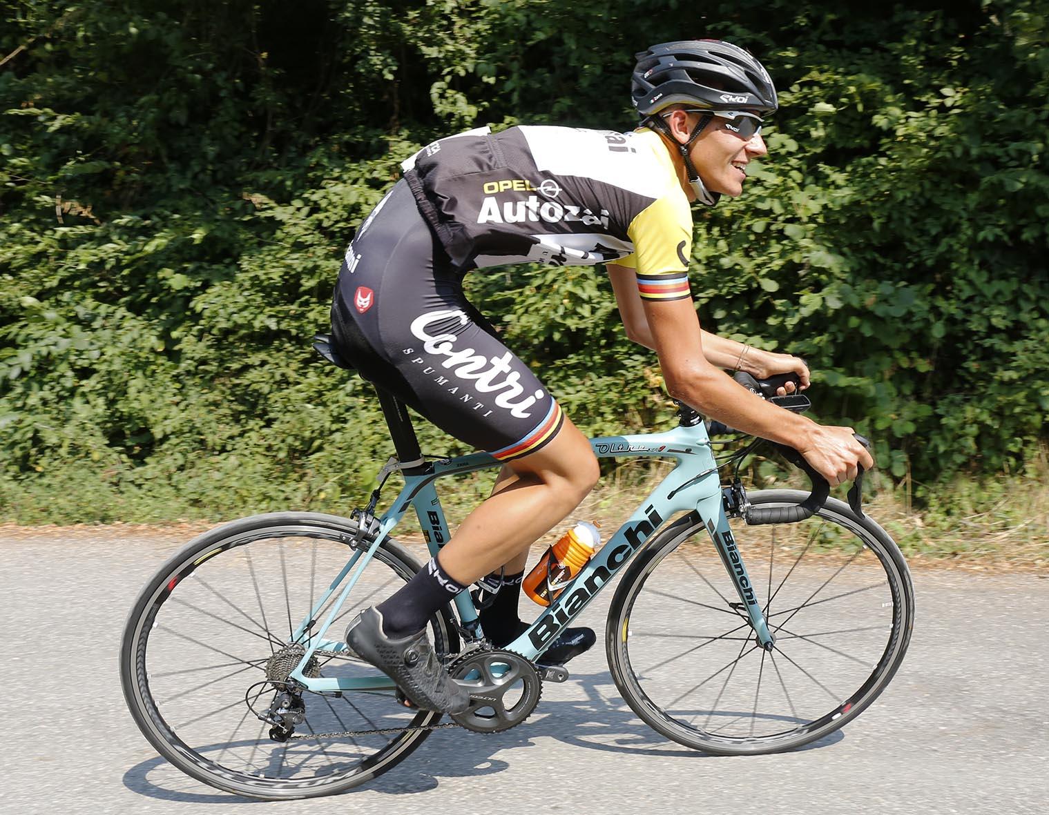 Filippo Zana vince la cronoscalata da Lugo di Grezzana a Cerro Veronese