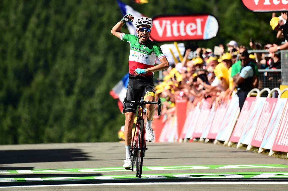 Fabio Aru vince la qunta tappa del Tour de France 2017