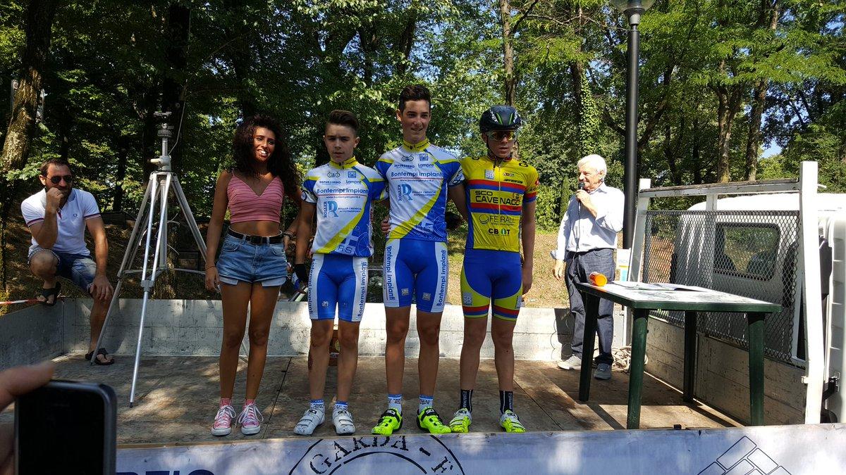 Il podio della gara Esordienti 1° anno di Montichiari