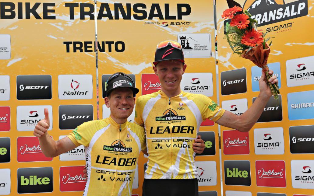 Daniel Geismayr e Hermann Pernsteiner leader della Bike Transalp