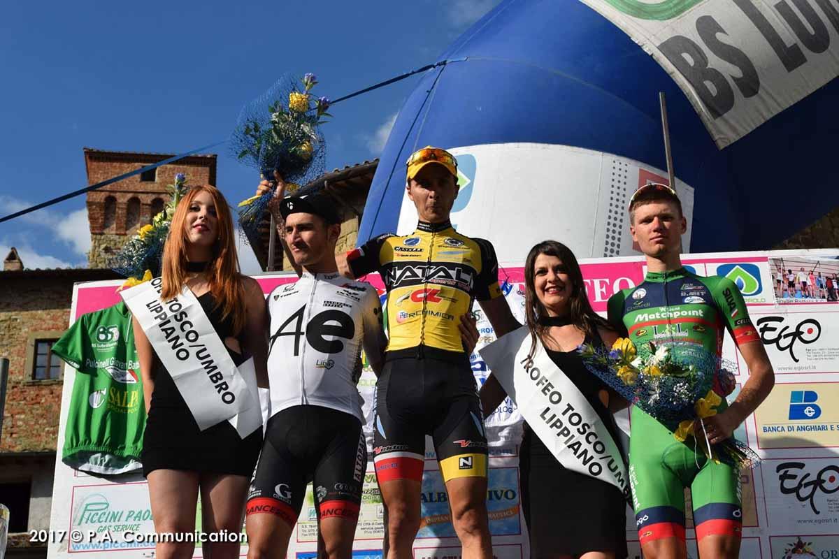 Il podio del Trofeo Tosco - Umbro 2017