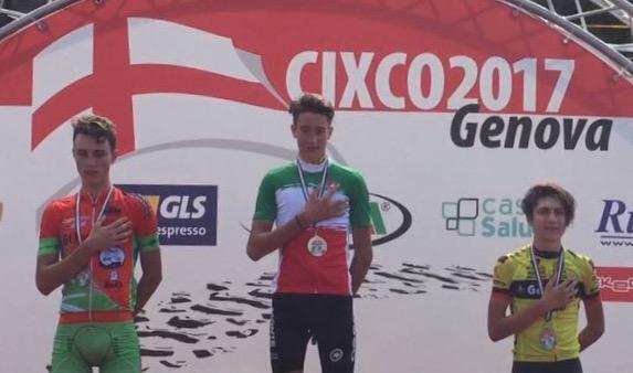 Il podio del Campionato Italiano XCO categoria Juniores 2017