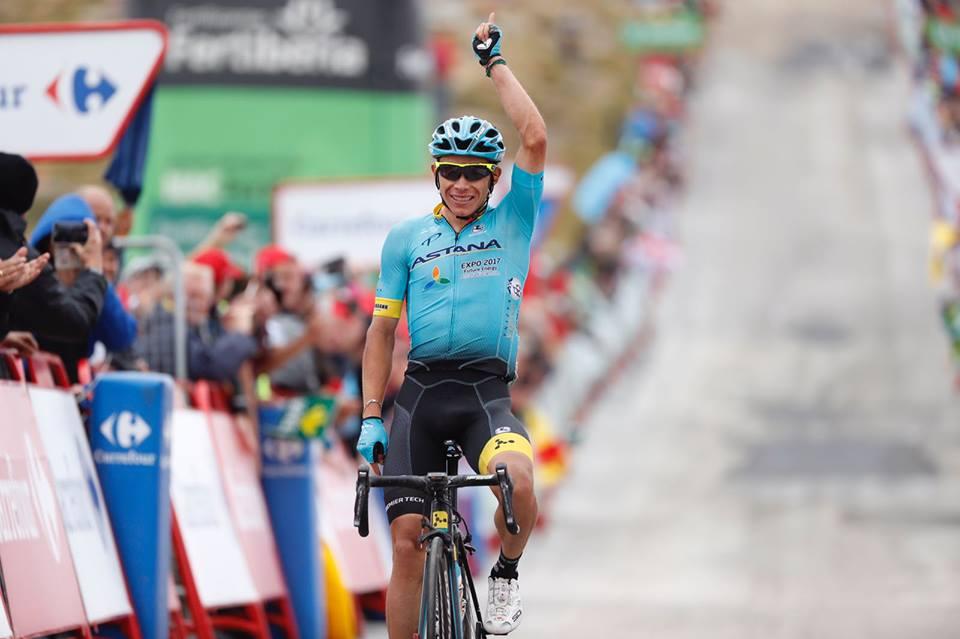 Miguel Angel Lopez vince l'undicesima tappa della Vuelta a Espana 2017