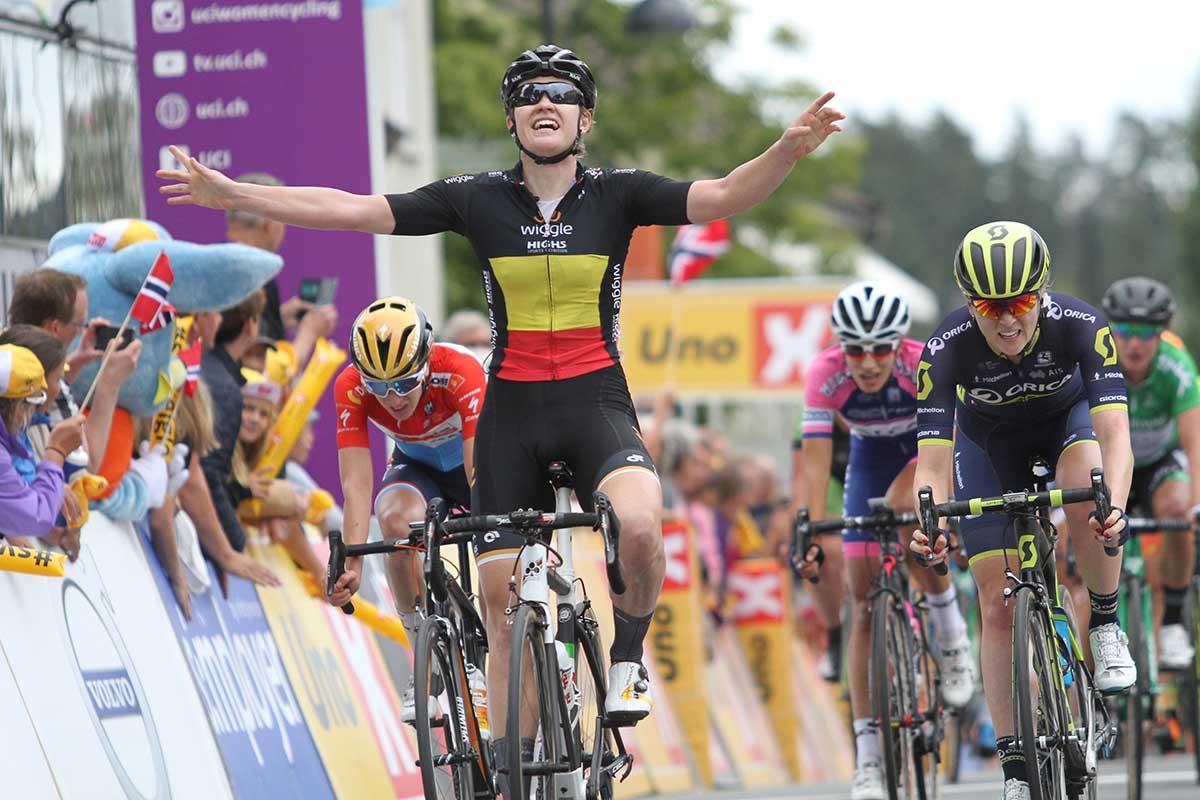 Jolien D'hoore vince la prima tappa del Ladies Tour of Norway