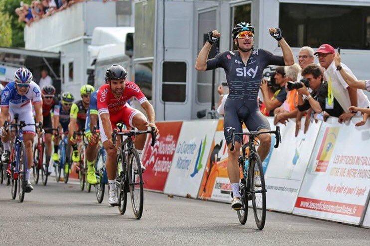 Elia Viviani vince la prima tappa del Tour du Poitou Charentes 2017