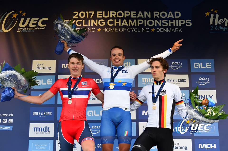 Il podio del Campionato Europeo Juniores