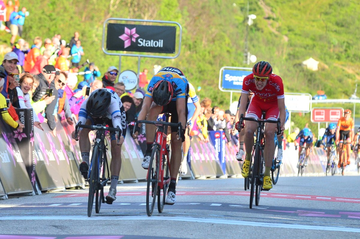 August Jensen vince la terza tappa dell'Arctic Race of Norway