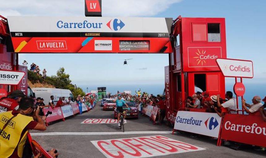 Alexey Lutsenko vince la sesta tappa della Vuelta 2017