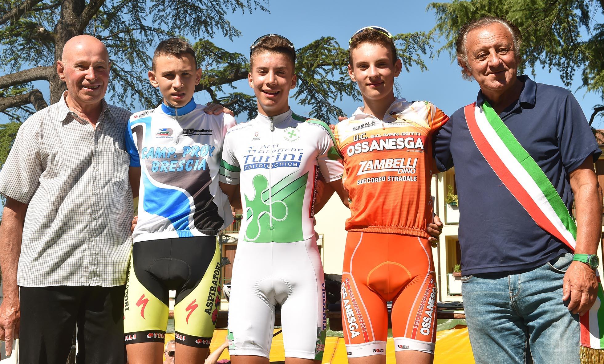 Il podio Esordienti 2° anno di Bovezzo
