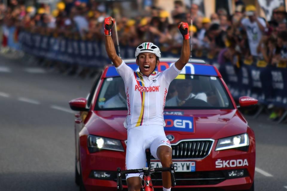 Egan Bernal vince la settima tappa del Tour de l'Avenir 2017