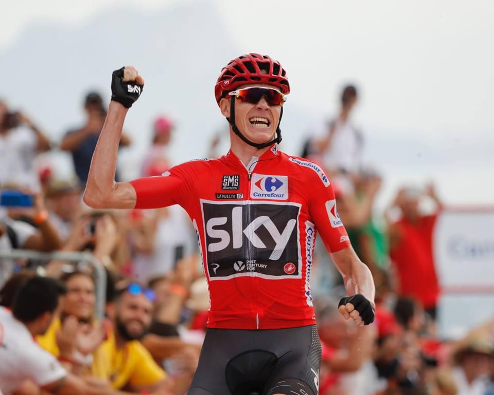 Chris Froome vince la nona tappa della Vuelta a Espana 2017