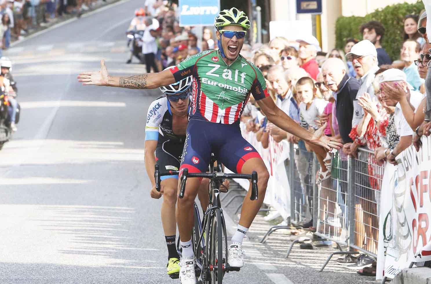 Filippo Rocchetti batte Alessandro Fedeli a Scomigo di Conegliano
