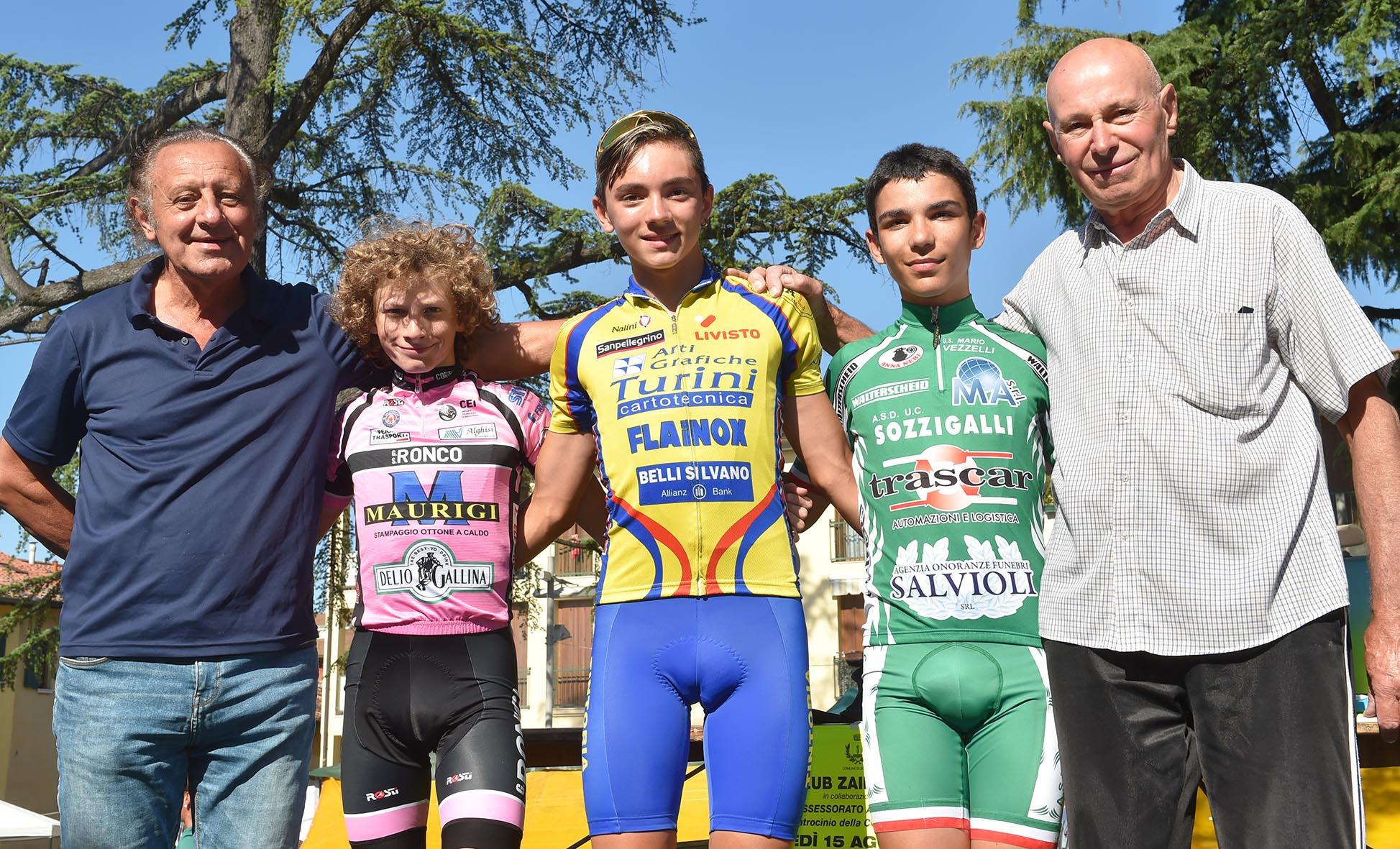 Il podio Esordienti 1° anno di Bovezzo