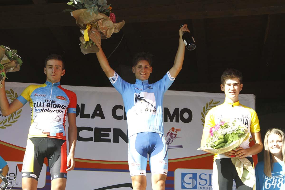 Il podio del Criterium 648 a Clusone