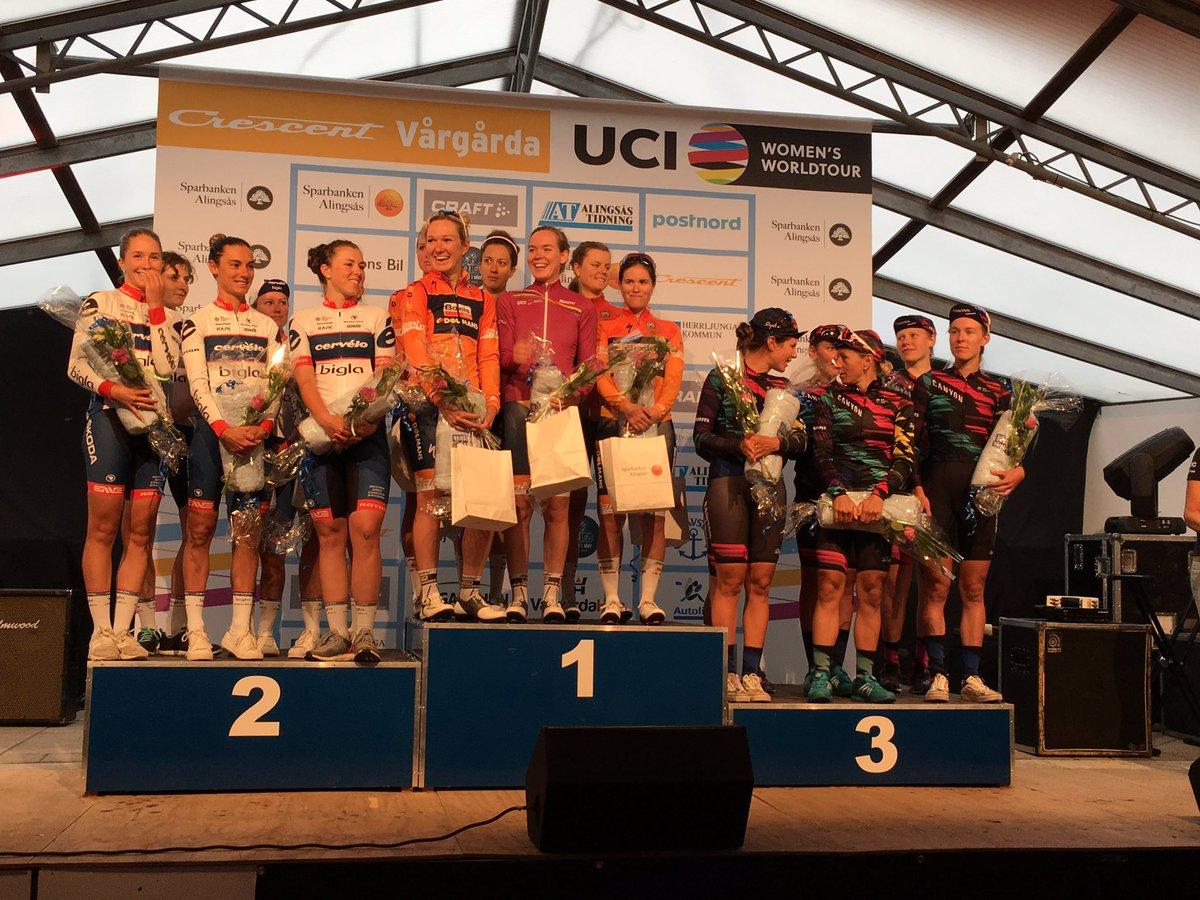 Il podio della Crescent Vargarda TTT 2017