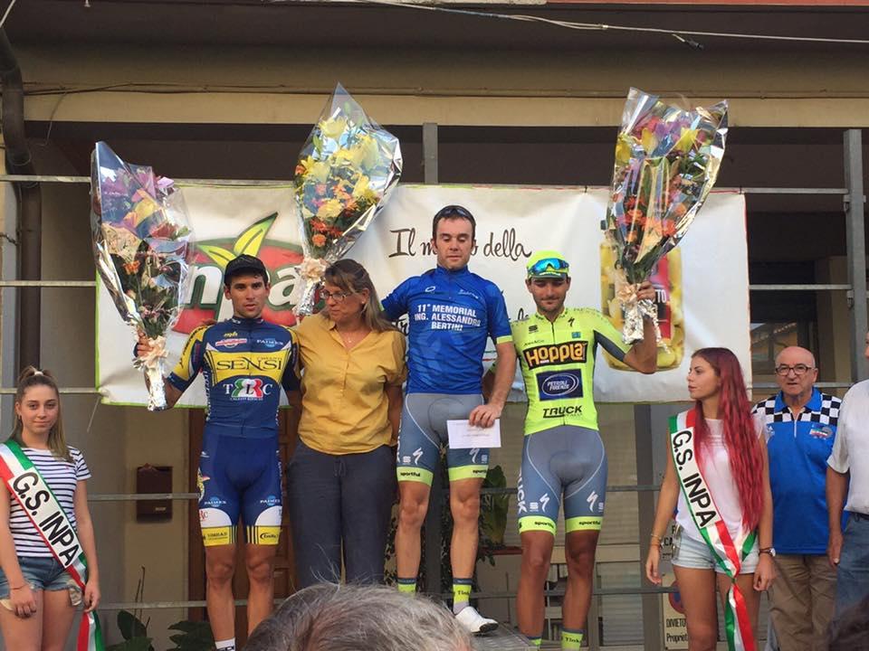 Il podio della gara di Cerreto Guidi vinta da Federico Burchio