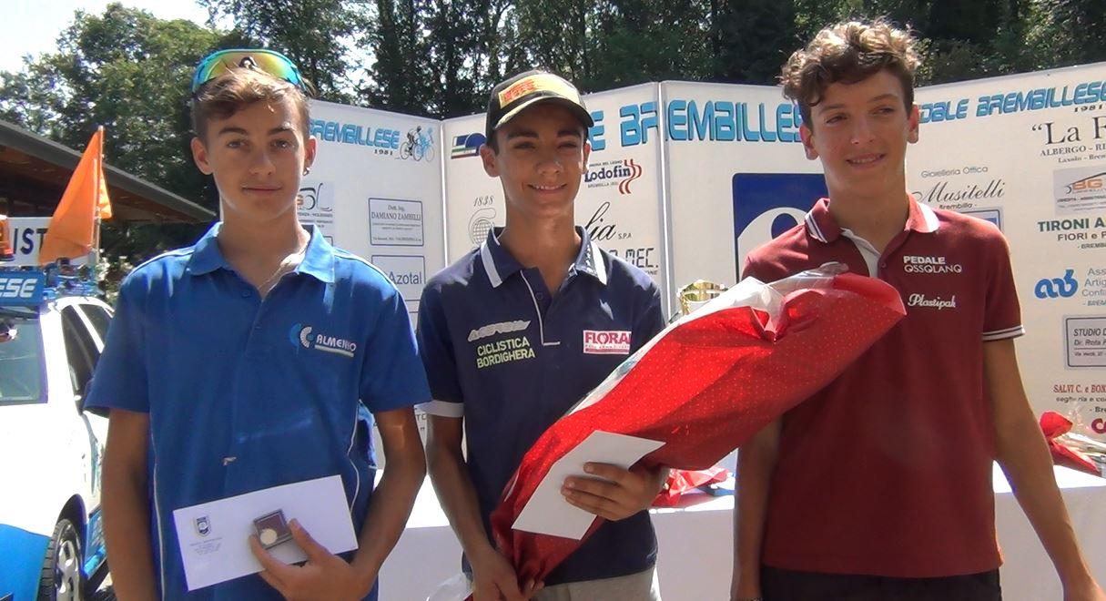 Il podio Esordienti 1° anno della Brembilla-Laxolo