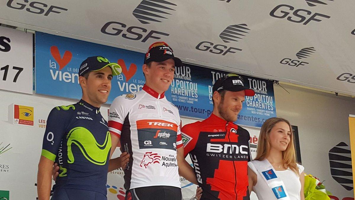 Il podio finale del Tour du Poitou Charentes 2017